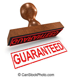 3d Guaranteed rubber stamp - 3d render of a rubber stamp, ...