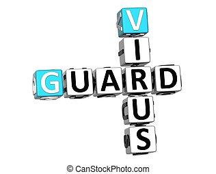 3D Guard Virus Crossword