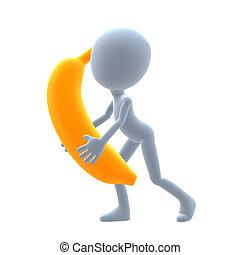 3D Guy Wtih A Banana