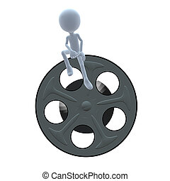 3D Guy Wtih A Movie Reel