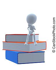 3D Guy Wtih Books