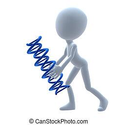 3D Guy Wtih DNA