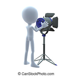 3D Guy Wtih Movie Lighting