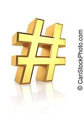 3d, hachis, or, signe