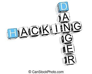 Hacking Danger Crossword - 3D Hacking Danger Crossword on...