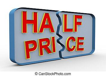 3d half price