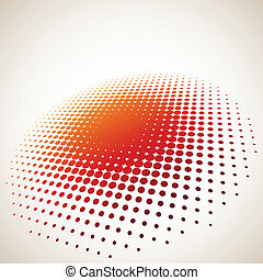3d, halftone, cerchio, fondo, con, spazio copia