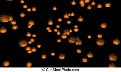 Halloween Pumpkins - 3d Halloween Pumpkins Falling