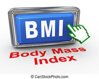 3d hand cursor bmi - body mass index