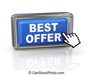 3d hand cursor button - best offer