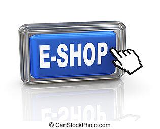 3d hand cursor button - eshop