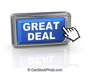 3d hand cursor button - great deal