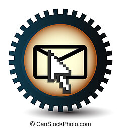 3d hand mouse cursor, vector icon