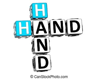 3D Hand to Hand Crossword text