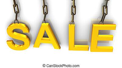 3d hanged text 'sale'