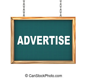 3d hanging banner - advertise