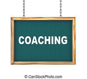 3d hanging banner - coaching