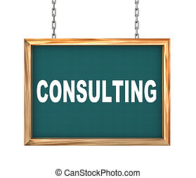 3d hanging banner - consulting