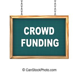 3d hanging banner - crowd funding