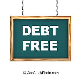 3d hanging banner - debt free