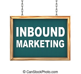 3d hanging banner - inbound marketing