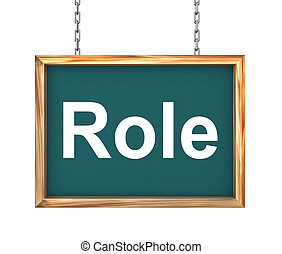 3d hanging banner - role