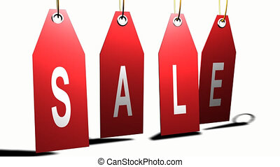 Hanging sale sign - 3d Hanging sale sign
