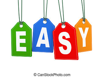 3d hanging tag label word text easy