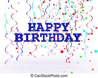 3D Happy Birthday Text