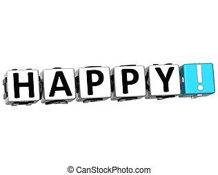 3D Happy Crossword