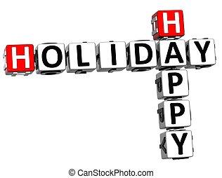 3D Happy Holiday Crossword