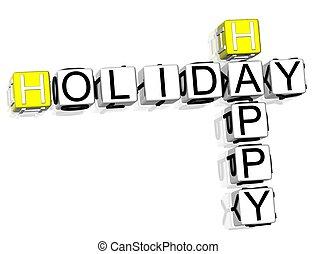Happy Holiday Crossword