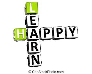 3D Happy Learn Crossword