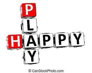 3D Happy Play Crossword