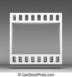 3d, haspel, film, pictogram
