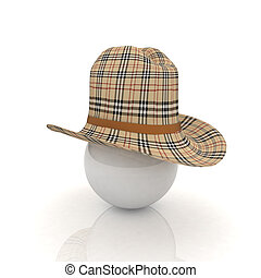 3d hats on white ball. Sapport icon