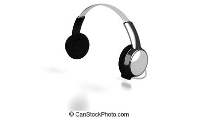 3D headset/ headphones on white background