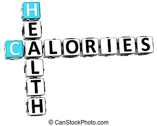 3D Health Calories Crossword
