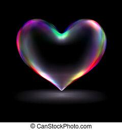 3d , heart.