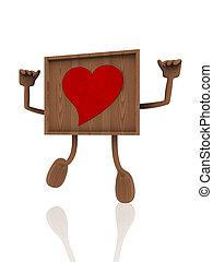 3d heart banner