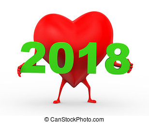 3d heart holding year 2018