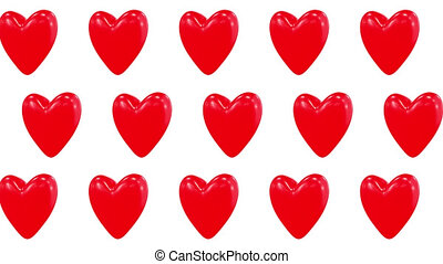 3d heart looped video pattern for Valentine day