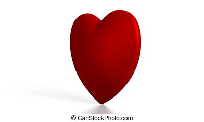 3D heart shape on white background - great for topics like...