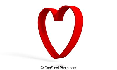 3D heart shape on white background