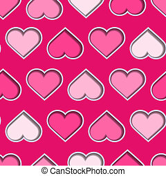 3d Hearts Seamless Background