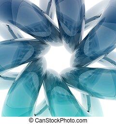 3D helix shape - 3D glass curve surface shape isolated on...