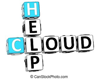 3D Help Cloud Crossword