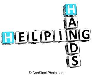 3D Helping Hands Crossword
