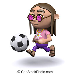 3d Hippy loves football