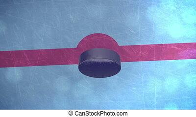 """""""3D Hockey Puck"""" - """"3D Hockey Puck falls on an ice field...."""